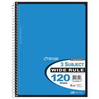 Top Flight WB120/DPF Wide Rule Wirebound Note Book