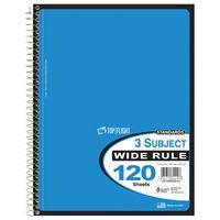 Top Flight WB120/DPF Wide Rule Wirebound Note Book