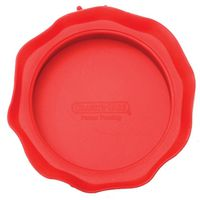 JAR TOP WIDEMOUTH SILICONE RED