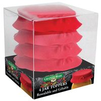 JAR TOP SILICONE RED SET 4
