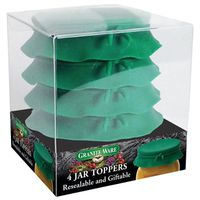 JAR TOP SILICONE GREEN SET 4