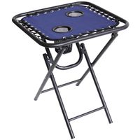 TABLE FOLDING BUNGEE 18IN NAVY
