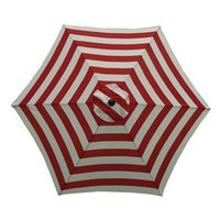 UMBRELLA MARKET 9FT RED/WHITE