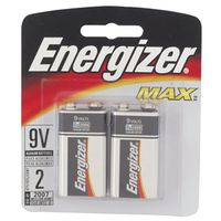 BATTERY MAX 9V ALKALINE 2PK