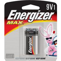 BATTERY MAX 9V ALKALINE 1PK