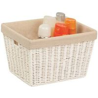BASKET CORD W/LINER MEDIUM WHT
