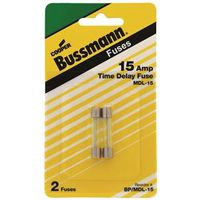 FUSE TIME DELAY GLASS 15AMP