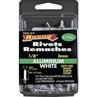 RIVET SHORT ALUM WHT 1/8X1/8IN