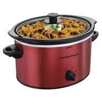 SLOW COOKER 3QT METALLIC RED