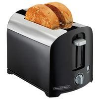 TOASTER 2-SLICE BLACK/CHROME