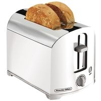 TOASTER 2-SLICE WHITE/CHROME