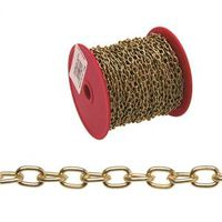 CHAIN OVAL NO19 BRASS PLT 82FT