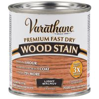 STAIN WOOD INT LT WALNUT 1/2PT