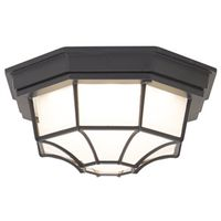 FLUSH MOUNT LED OUTDOOR BLK