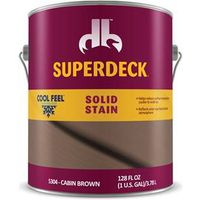 STAIN SOLID CF CABIN BROWN GAL