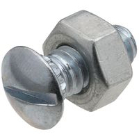 BOLT/NT RBD NK ZN 1/4IN-20X1/2