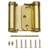 SPRING HINGE STN BRASS 3IN