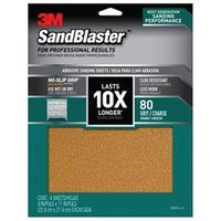 SANDPAPER GRIP 80 9X11IN 4SHT
