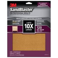 SANDPAPER GRIP 120 9X11IN 4SHT