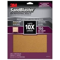 SANDPAPER GRIP 150 9X11IN 4SHT
