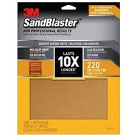 SANDPAPER GRIP 220 9X11IN 4SHT