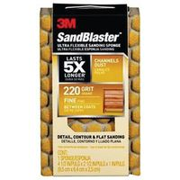 SAND SPONGE FINE 220 4.5X2.5IN