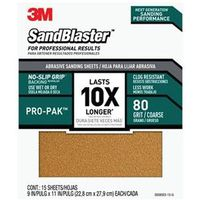 SANDPAPER GRIP 80 9X11IN 15PK