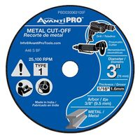 CUTOFF DISC AP 3 X 1/16 X 3/8