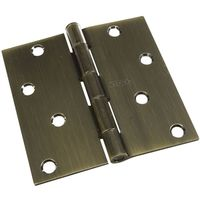 HINGE DOOR ANTIQUE BRASS 4X4IN