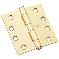 HINGE STND WGT SATIN BRASS 4IN
