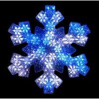 SNOWFLAKE MOTN BLU/WH LED 19IN