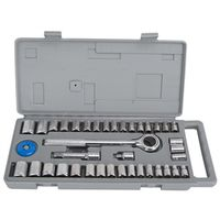 SKT SET 40PC 1/4&3/8DR SAE/MET
