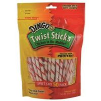 DINGO DOG TWIST STICKS 50PK