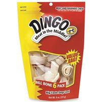 DINGO 3.5-4IN SMALL WHITE 6PK