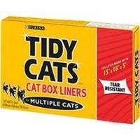 Tidy Cats 7023000073 Tear Resistant Cat Litter Box Liner