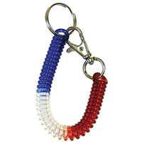 KEY RING CLD W/CLP RED/BLUE