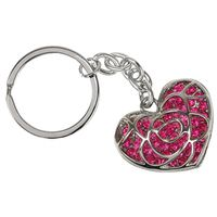 KEYCHAIN HEART CUT OUT PINK