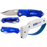 SHARPENER&SPORT KNIFE CMB BLUE