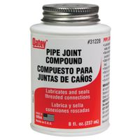 PIPE JNT CMPND W/BRSH GRAY 8OZ