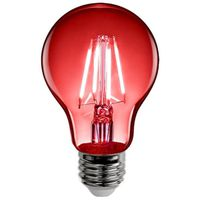 BULB LED A19 E26 4.5W CLR RED