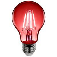 BULB LED A19 E26 4.5W CLR RED