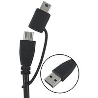 CABLE USB A-MICRO/MINI 3FT