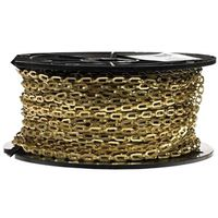 CHAIN 1-0 SFTY BRSS-PLTD 200FT
