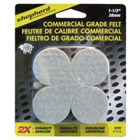 PAD FELT RND COMM GRAY 1-1/2IN