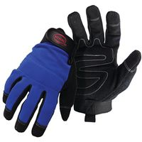 GLOVE MECHANIC SYN LEATHER MED