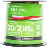 WIRE BELL CPPR RED/WH 20/2X30M