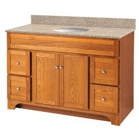 VANITY 48X21 2DR/4DRAWER OAK