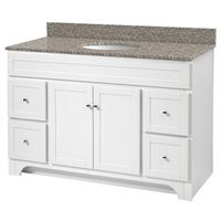 VANITY 34X48 2DR/4DRAWER WHITE