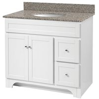 VANITY 36X21 2DR/2DRAWER WHITE