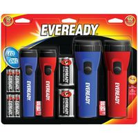FLASHLIGHT ECON W/BATTERY 4PK